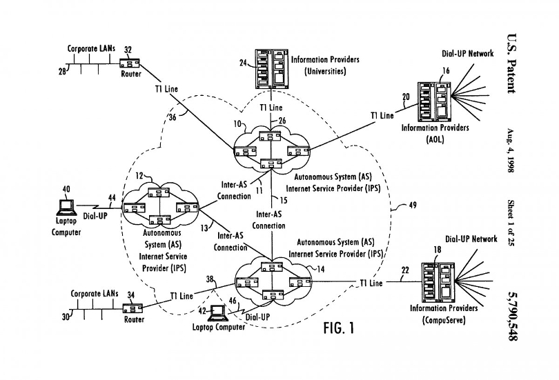 'The cloud' represented in a patent filing with the USPTO