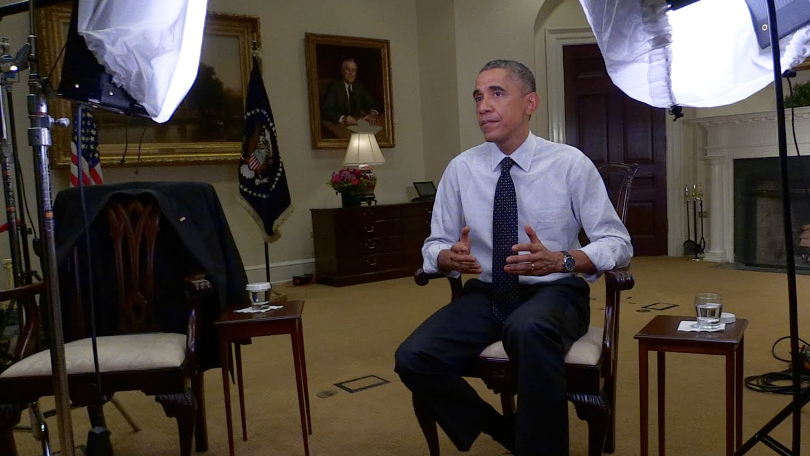 Barack Obama: a still from the President's message on net neutrality from 2014