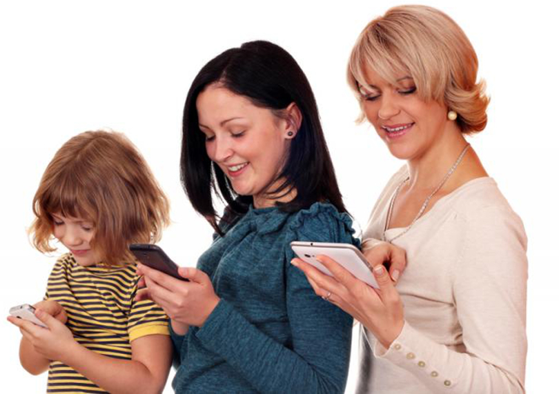 How 3 Different Generations Use 3 Different Devices Today | Image credits: emergingtech.tbr.edu