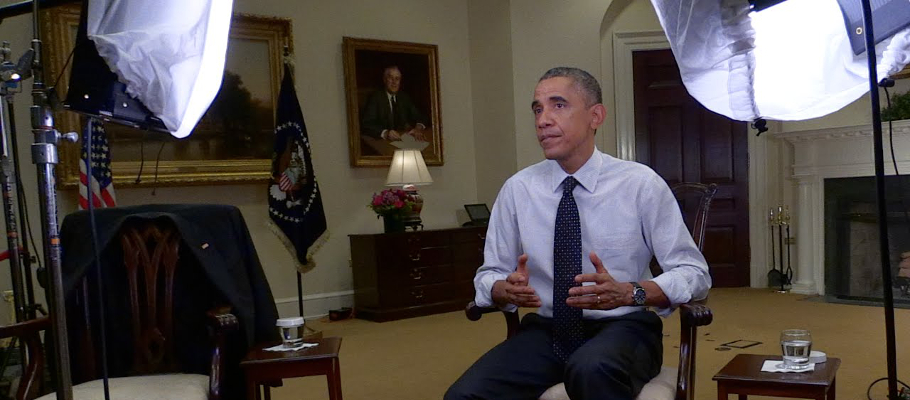 Barack Obama: a still from the President's message on net neutrality from November 2014