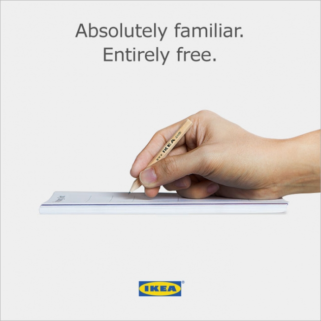 IKEA Reacts to Apple Pencil with Brilliant Ad | Image credits: IKEA