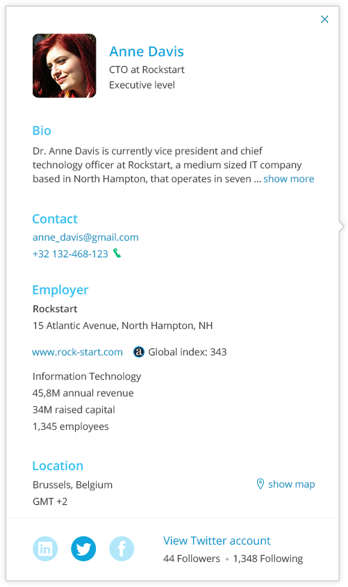 Hubgets Page - guest profile