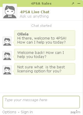 4psa chat service