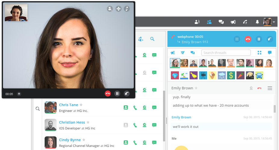 Video Call in Hubgets Page